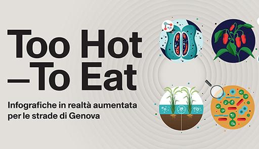 Logo e titolo della mostra 'Tuo hot to eat'