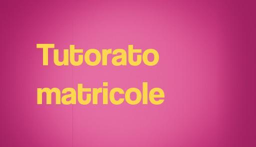 Scritta Tutorato matricole su sfondo rosa
