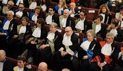 Pubblico in platea per la cerimonia di inaugurazione dell'anno accademico dell'Università di Torino