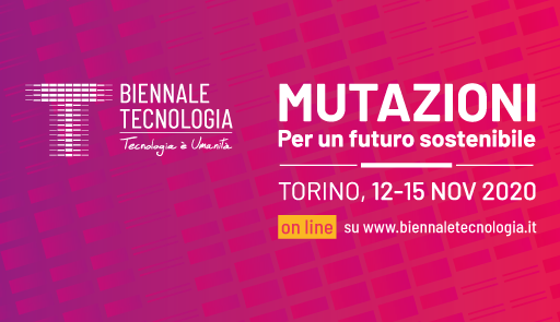 sfondo colorato con logo dell'evento e frase: mutazioni, per un futuro sostenibile
