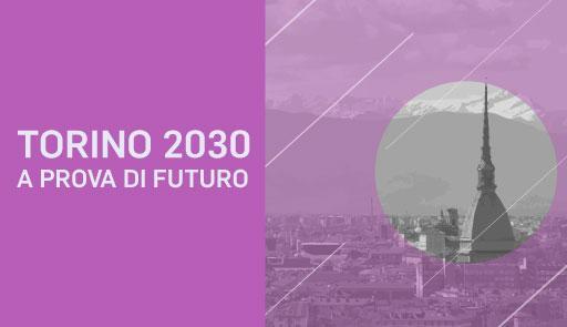Veduta di Torino con Mole su sfondo lilla