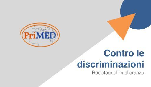 logo primed e titolo del ciclo di seminari: settimana contra le discriminazioni