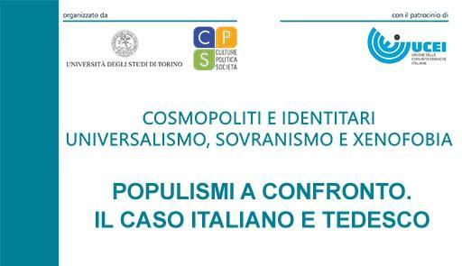 """incontro """"Populismi a confronto. Il caso italiano e tedesco"""""""