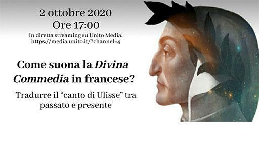 profilo di Dante Alighieri e titolo dell'evento