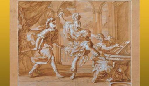 Bassorilievo che ritrae l'assassinio di Archimede