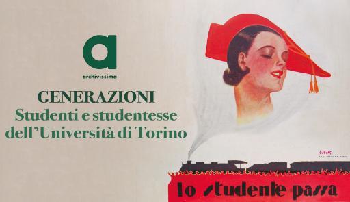 """Porzione della locandina: una giovane stile anni 30 con scritta """"Lo studente passa"""""""