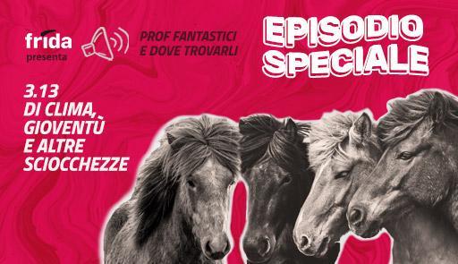 Grafica del format con foto di quattro cavalli