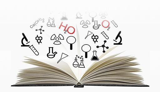 Libro aperto con lettere che volano