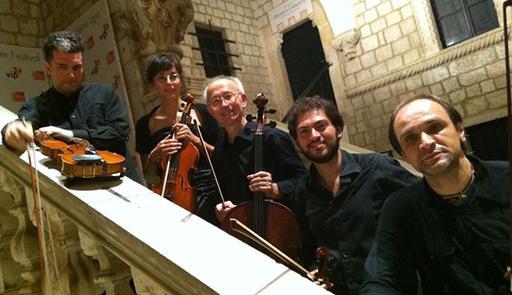 Foto del Quartetto di Milano: Fulvio Liviabella, Igor Della Corte, Roberto Mazzoni e Giuseppe Laffranchini
