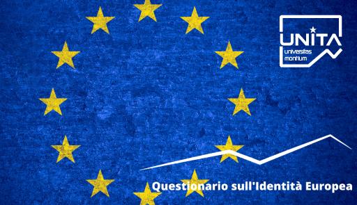 bandiera dell'Unione Europea e logo UNITA