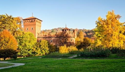 Veduta del Valentino e del castello medievale