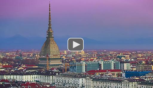 Veduta panoramica della città di Torino