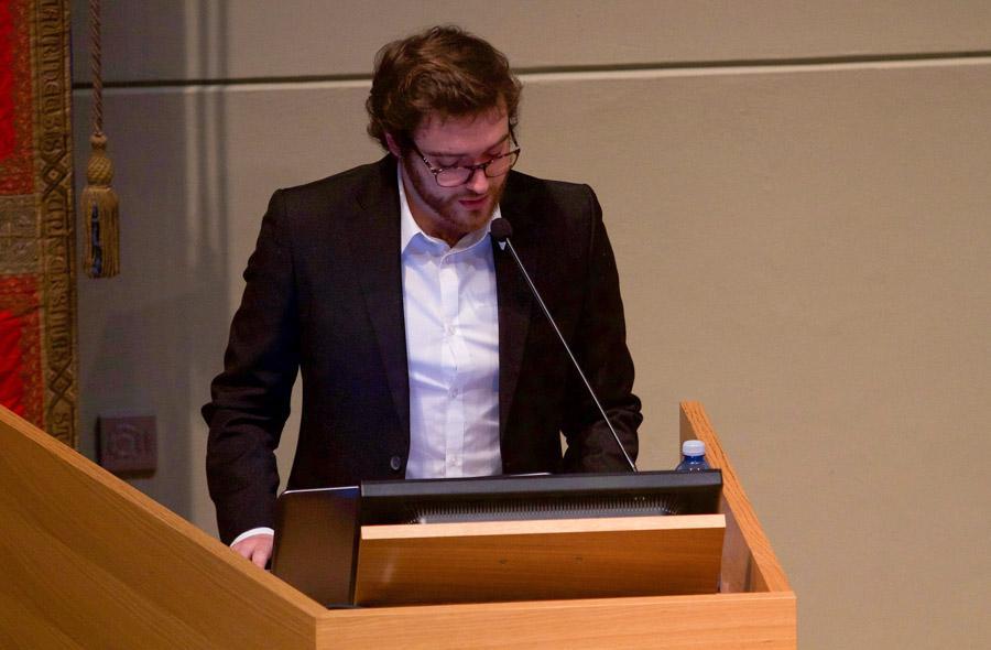 Inaugurazione anno accademico 2017-2018 - Presidente del Consiglio degli Studenti Luigi Botta