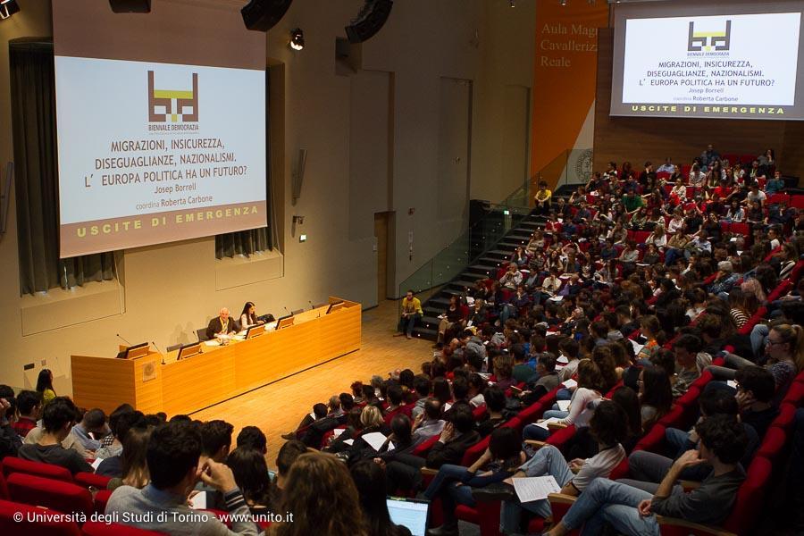 Pubblico in Aula Magna per Biennale Democrazia 2017