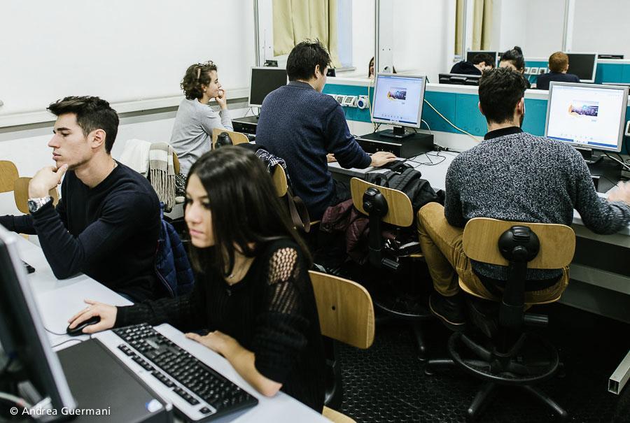 Un'aula informatica del Dipartimento di Scienze della Vita e Biologia dei Sistemi