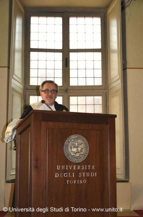 Il Prof. Roda: apertura della cerimonia