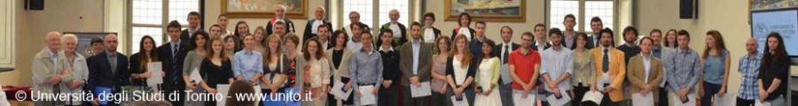 Foto di gruppo dei migliori laureati delle Facoltà scientifiche