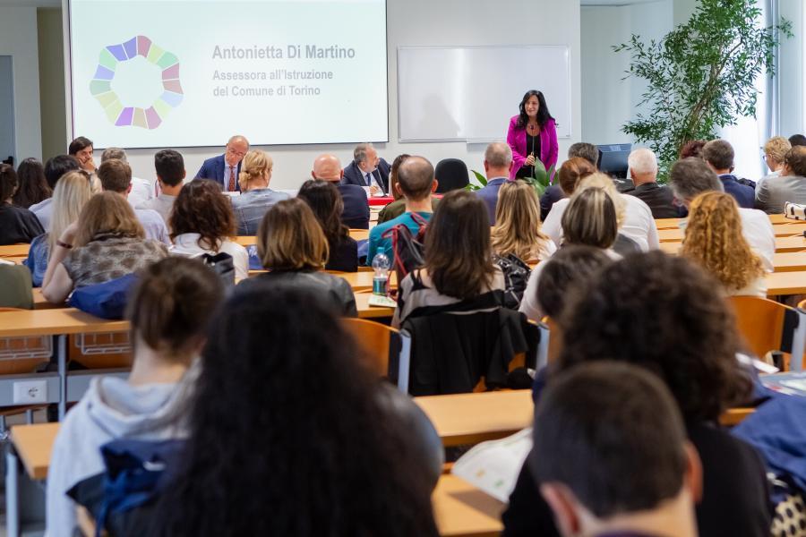 Pubblico in platea per l'evento Storie di sostenibilità