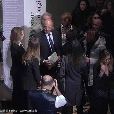 Rettore Ajani all'inaugurazione dell'aula magna della cavallerizza reale
