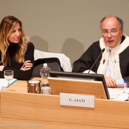 Direttore generale Loredana Segreto e il Rettore Gianmaria Ajani