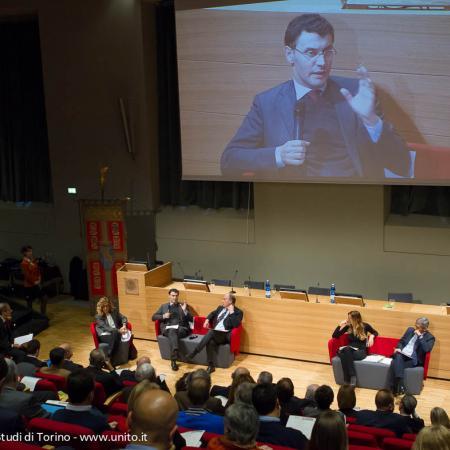 Il pubblico segue il discorso di un relatore del seminario Semplificazione: scelta necessaria per l'Università pubblica