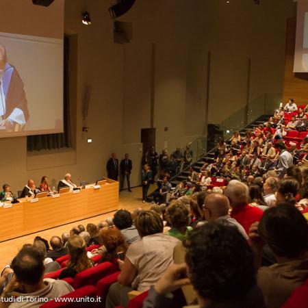 Consegna della Laurea Honoris Causa a Umberto Eco - Aula Magna della Cavallerizza Reale