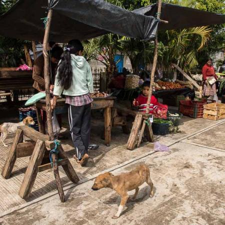 Guatemala - Santa Evelina, mercato