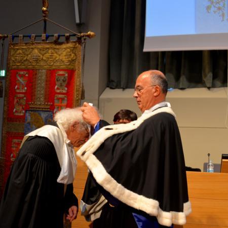 Cerimonia di conferimento della Laurea a Christo
