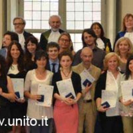 Foto di gruppo dei migliori laureati delle Facoltà umanistiche