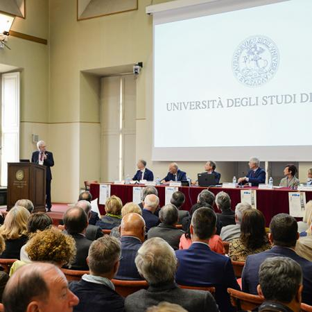 Conferenza presso l'Aula Magna di UniTo