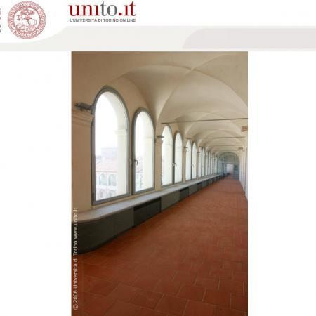 Savigliano - Corridoio loggiato con volte a crociera
