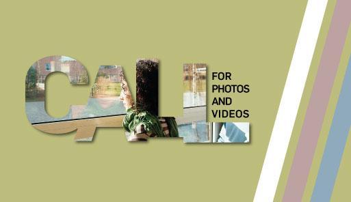 Scritta CALL creata con ritagli di fotografie