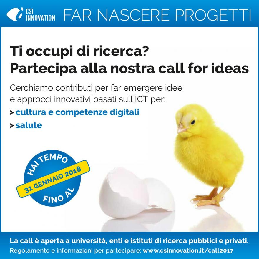 Call for innovation - Far nascere progetti