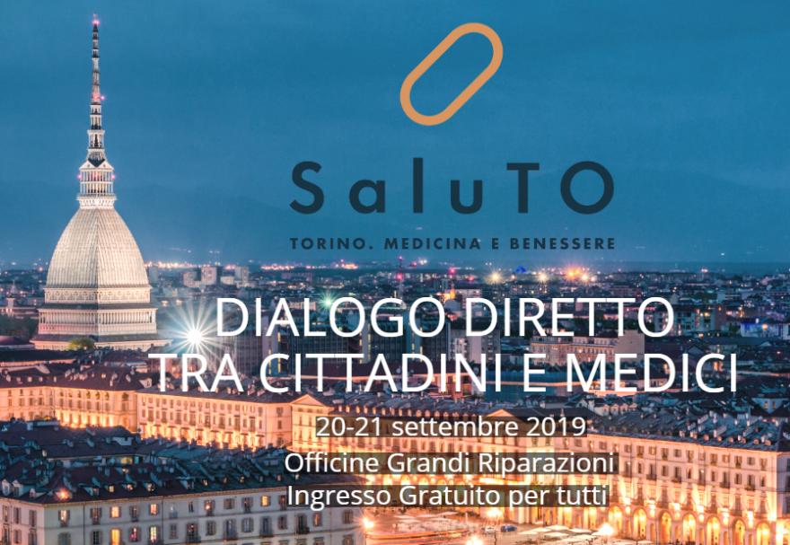 Veduta notturna di Torino con titolo del convegno