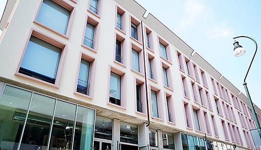 Facciata dell'edificio Aldo Moro