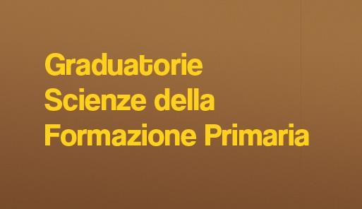 Scitta Graduatorie scienze della formazione primaria