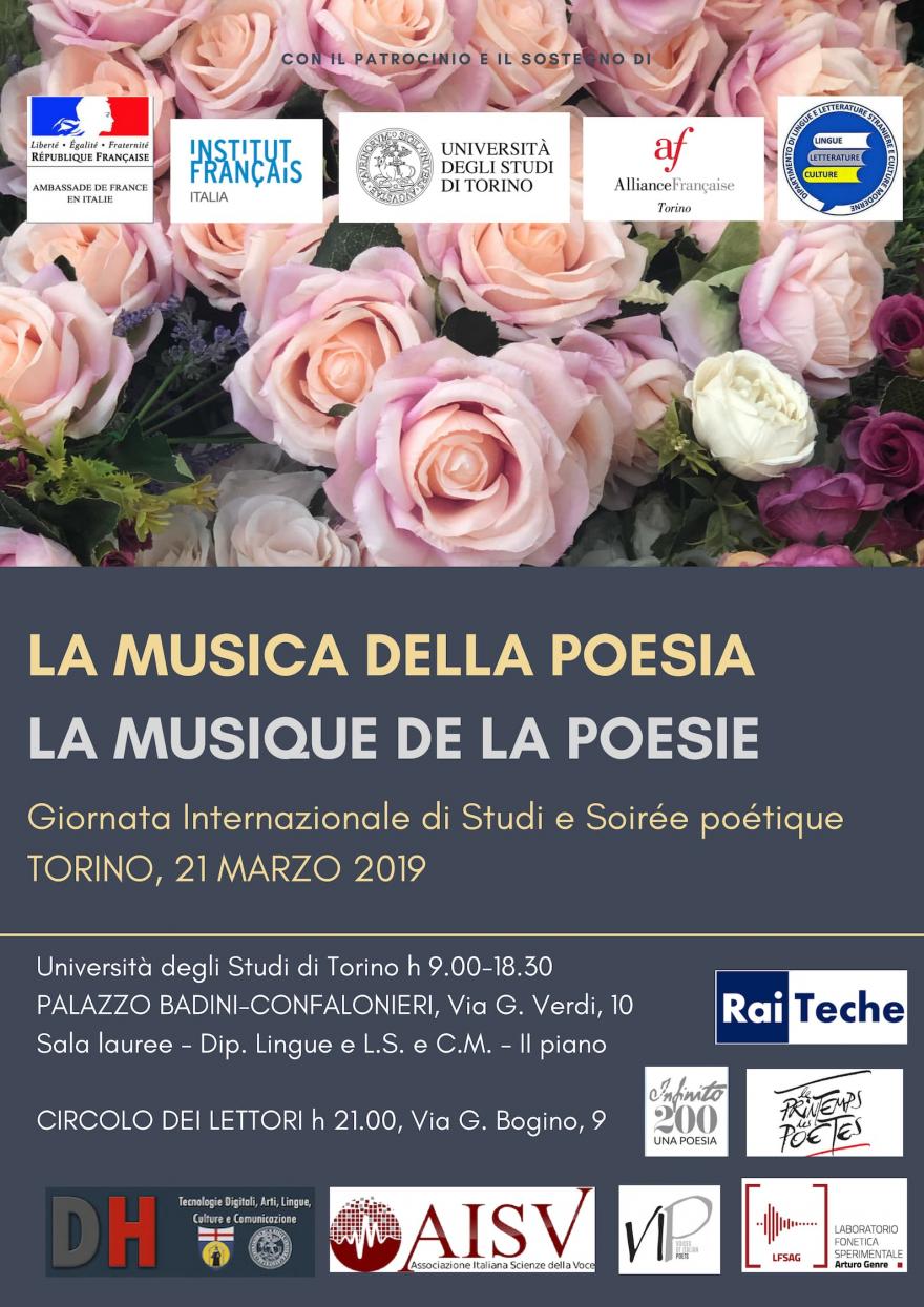 Locandina evento La musica della poesia