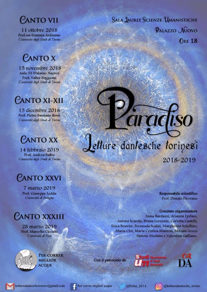 Locandina Letture dantesche VI edizione