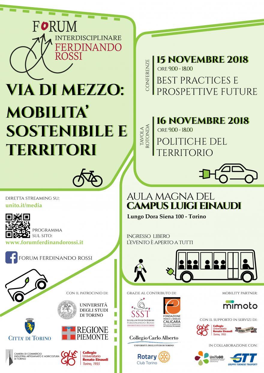 Locandina Forum Ferdinando Rossi 2018