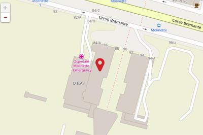 Mappa sede Molinette - Torino