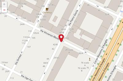 Mappa sede Via Pietro Giuria - Torino