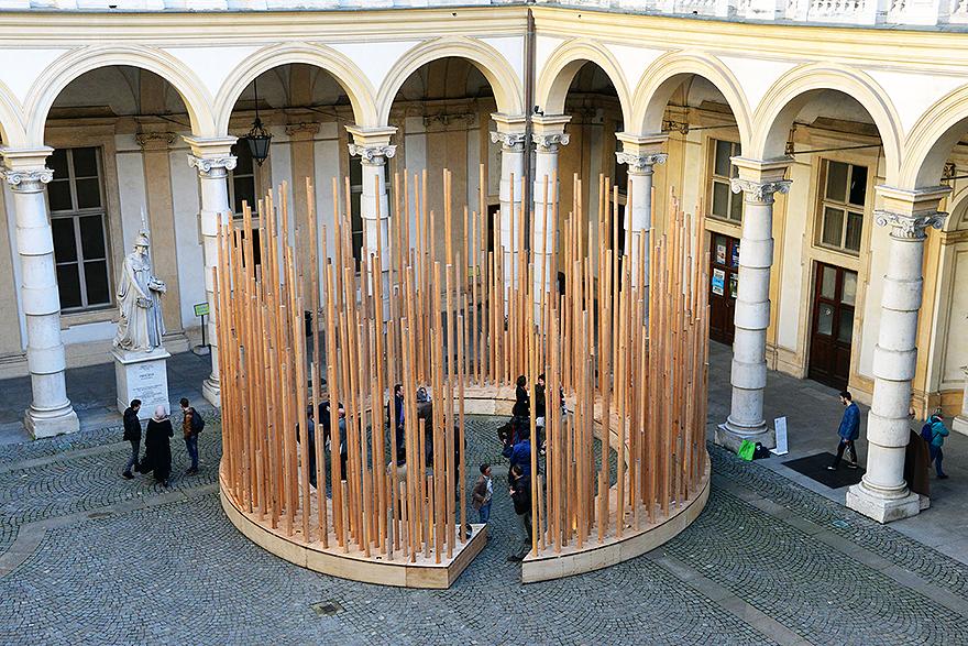 Installazione in rettorato Radura
