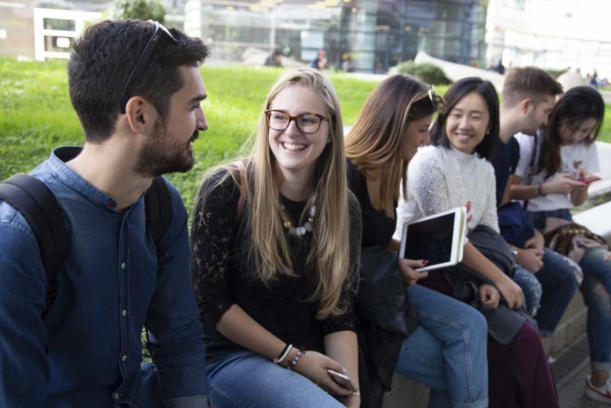 Studenti al Campus Luigi Einaudi