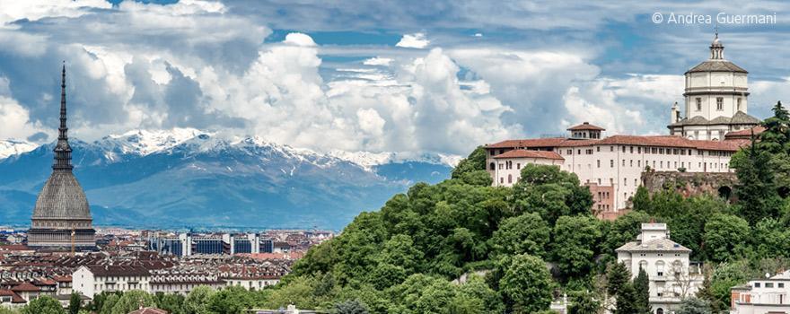 Veduta del Monte dei Cappuccini a Torino