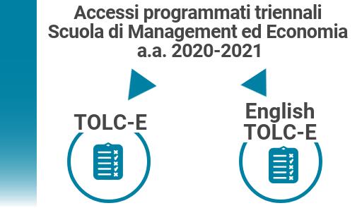 Accessi triennali per Economia e Management: TOLC-E e English TOLC-E