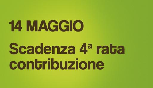 Grafica della campagna immatricolazioni 19-20 con scritta 4a RATA CONTRIBUZIONE STUDENTESCA