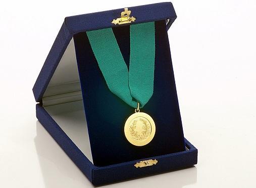 medaglia dei migliori laureati con scatola da esposizione