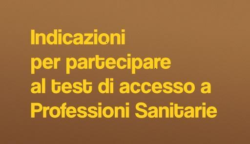 Informazioni test Professioni sanitarie