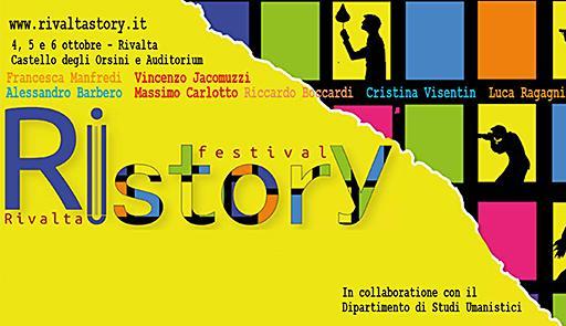 Grafica della seconda edizione del Festival RiStory di Rivalta