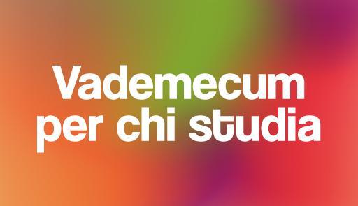 Sfumature di colore con scritta VADEMECUM PER CHI STUDIA